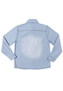 Camisa-Manga-Longa-Juvenil-Para-Menino---Azul-clar