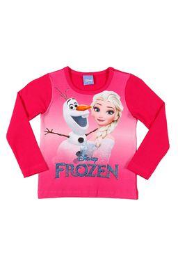 Blusa-Manga-Longa-Frozen-Infantil-Para-Menina---Rosa-pink