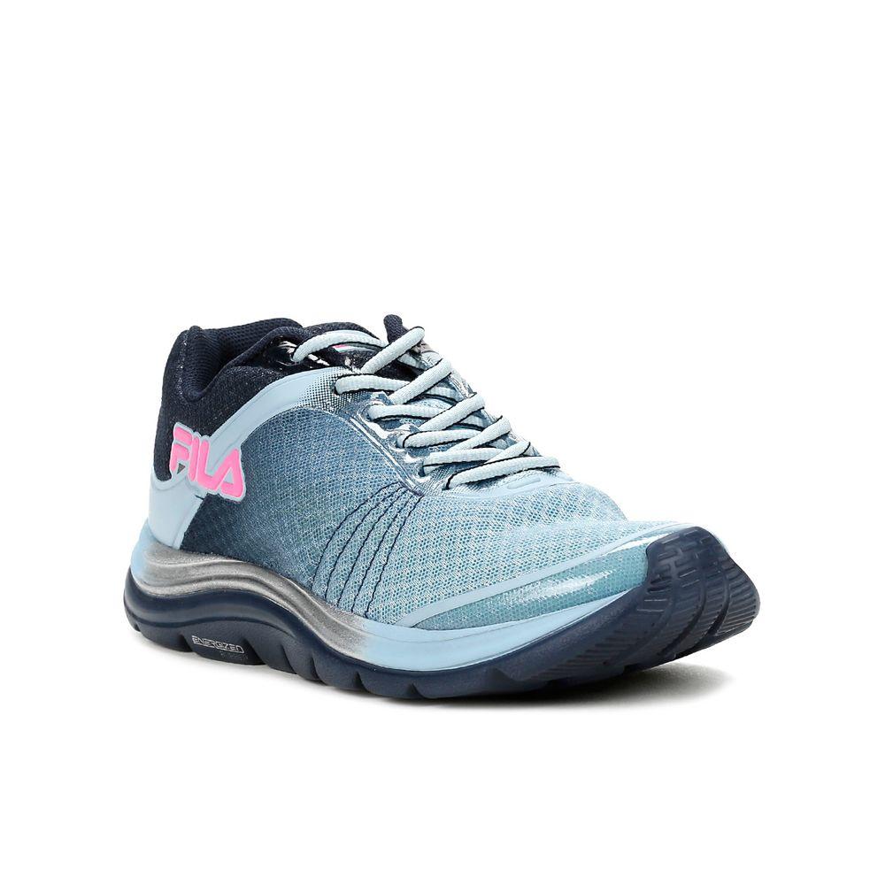 Tênis Esportivo Feminino Fila Azul marinhorosa  Lojas Pompeia -> Fila Banheiro Feminino
