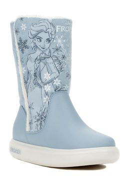Bota-Cano-Longo-Disney-Infantil-Para-Menina---Azul-branco
