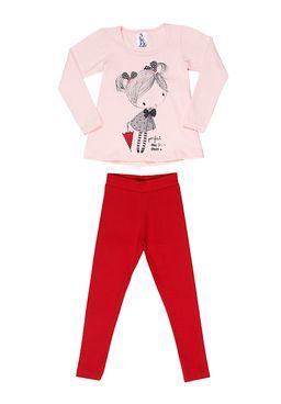 Conjunto-Infantil-Para-Menina---Rosa-vermelho