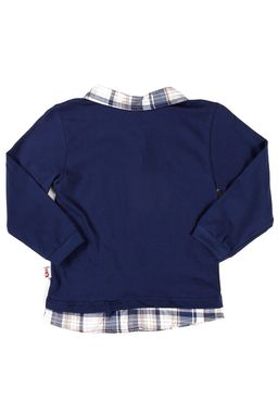 Polo-Manga-Longa-Infantil-Para-Menino---Azul-marinho