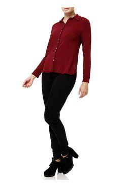 Camisa-Manga-Longa-Feminina-Vinho