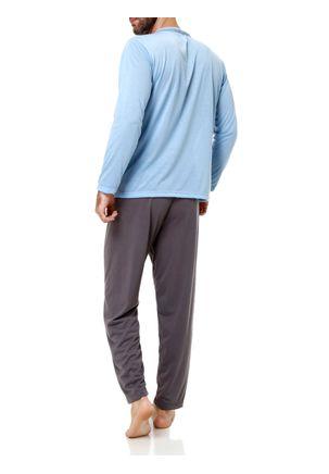 Pijama-Longo-Masculino-Azul-cinza