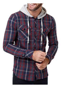 Camisa-Manga-Longa--Occy-Masculina-com-Capuz-Azul-vermelho