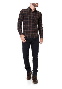 Camisa-Manga-Longa-Masculina-Azul-marrom