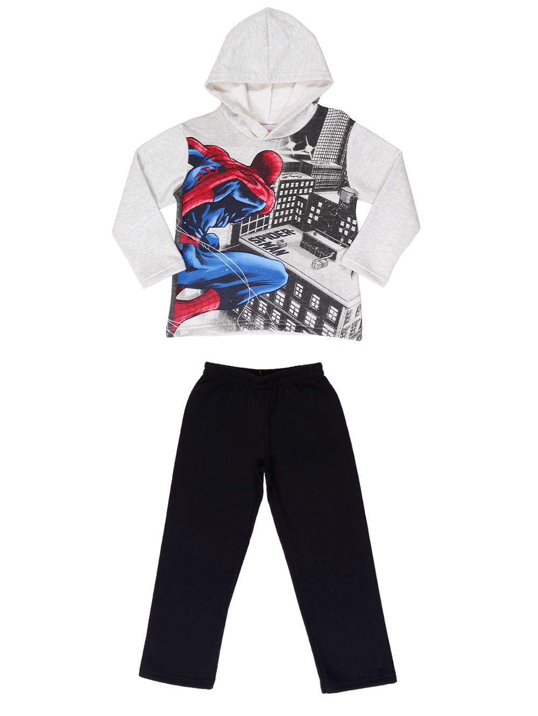 Conjunto Spider Man Infantil Para Menino - Cinza / preto 10