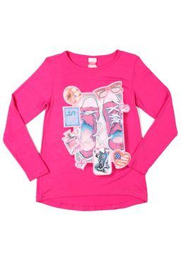 Blusa-Manga-Longa-Juvenil-Para-Menina---Rosa-pink
