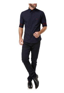 Camisas-Manga-3-4-Masculina-Azul