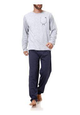 Pijama-Longo-Masculino-Cinza-azul
