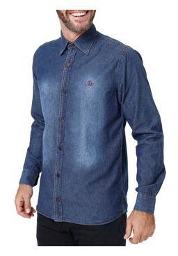 Camisa-Jeans-Manga-Longa-Masculina-Azul