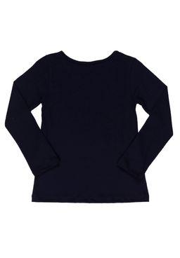 Camiseta-Manga-Longa-Infantil-Para-Menina---Azul-marinho