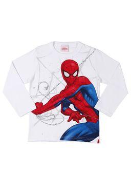 Camiseta-Manga-Longa-Infantil-Spider-Man-Para-Menino---Branco