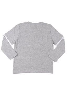 Camiseta-Manga-Longa-Infantil-Disney-Para-Menino---Cinza