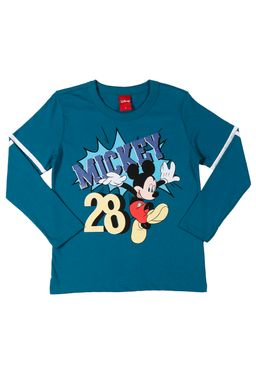 Camiseta-Manga-Longa-Infantil-Disney-Para-Menino---Verde