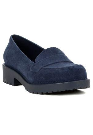 Mocassim-Feminino-Zaxy-Date-Floc-Azul-marinho