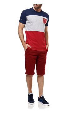 Camiseta-Manga-Curta-Masculina-Gangster-Cinza-vermelho