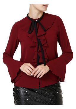 Camisa-Manga-Longa-Feminina-Bordo