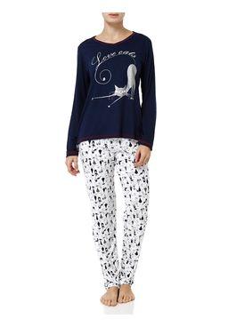 Pijama-Longo-Feminino-Azul-marinho