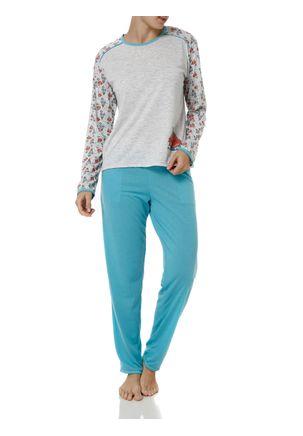 Pijama-Longo-Feminino-Cinza-azul