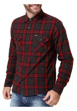 Camisa-Manga-Longa-Masculina-Gangster-Vermelho