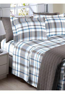 Jogo-de-Lencol-Duplo-Queen-Corttex-Art-150-Fios-Azul-cinza