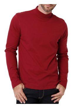 Camiseta Manga Longa Masculina Vinho