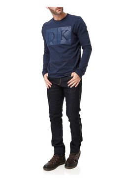 Camiseta-Manga-Longa-Masculina-Dk-Azul