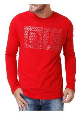 Camiseta-Manga-Longa-Masculina-Dk-Vermelho