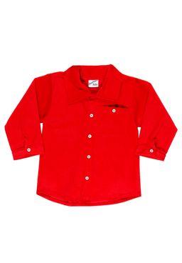 Camisa-Manga-Curta-Infantil-Para-Menino----Vermelho