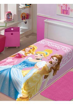 Cobertor-Solteiro-Jolitex-Raschel-Disney-Rosa