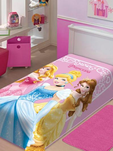 Cobertor Solteiro Jolitex Raschel Disney Rosa
