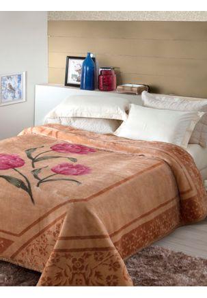 Cobertor-Casal-Jolitex-Caramelo