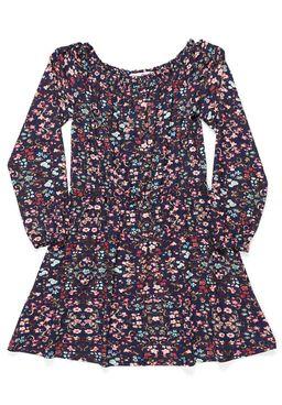 Vestido-Juvenil-Para-Menina---Azul-marinho