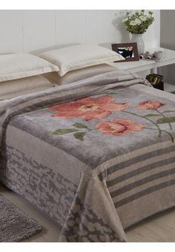 Cobertor-King-Jolitex-Raschel-Cinza