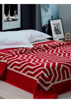 Cobertor-Casal-Corttex-Vermelho