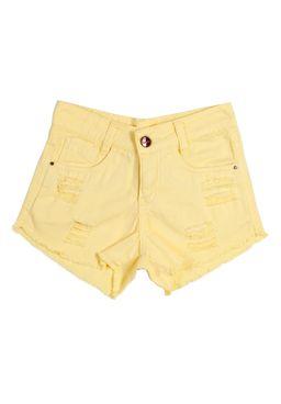 Short-Juvenil-Para-Menina---Amarelo
