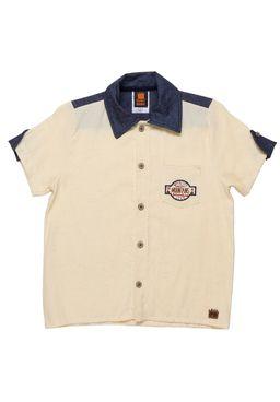 Camisa-Manga-Curta-Infantil-Para-Menino---Amarelo