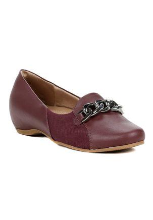 Sapato-de-Salto-Feminino-Usaflex-Vinho