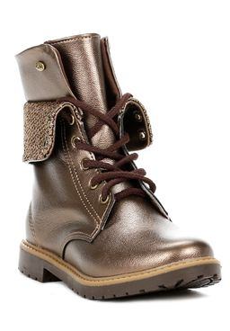 Bota-Coturno-Klin-Infantil-Para-Menina---Bronze