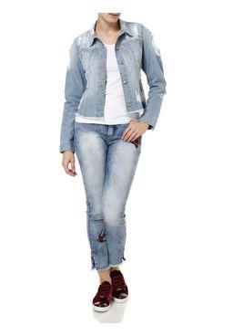 Jaqueta-Jeans-Feminina-com-Bordado-Azul-claro