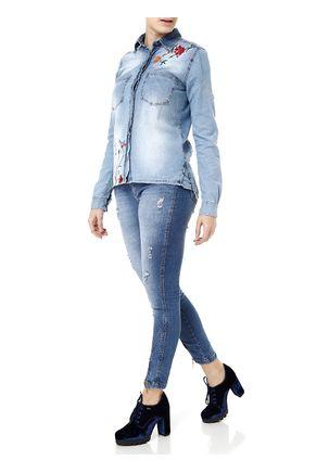 Camisa-Manga-Longa-Feminina-Uber-Azul