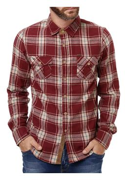Camisa-Flanela-Manga-Longa-Masculina-Gangster-Vinho