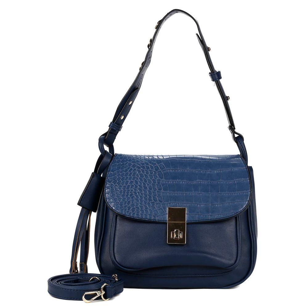 Bolsa Feminina Azul : Bolsa feminina azul lojas pompeia