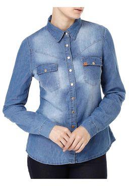 Camisa-Manga-Longa-Jeans-Feminina-Azul-claro