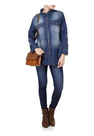 Camisa-Manga-Longa-Jeans-Feminina-Uber-Bordado-Azul