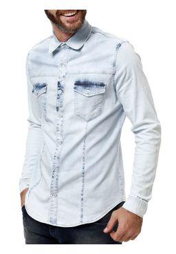 Camisa-Manga-Longa-Jeans-Masculina-Bivik-Azul