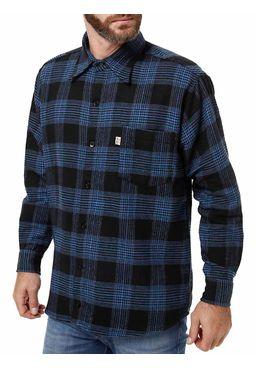 Camisa-Flanela-Manga-Longa-Infantil-Para-Menino---Azul