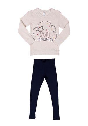 Pijama-Infantil-Para-Menina---Bege-azul