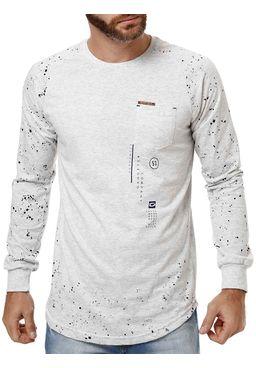 Camiseta-Manga-Longa-Masculina-Gangster-Cinza